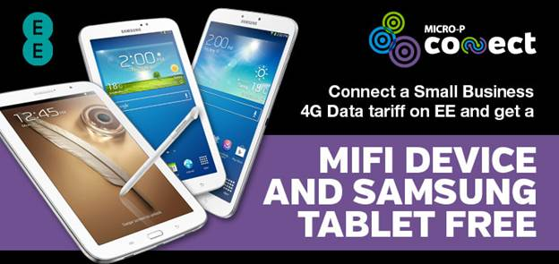 Free Mifi and Samsung Tablet with 4G data deal with EE