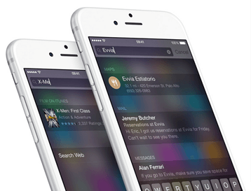 New Features in iOS 8 Spotlight brighter than ever