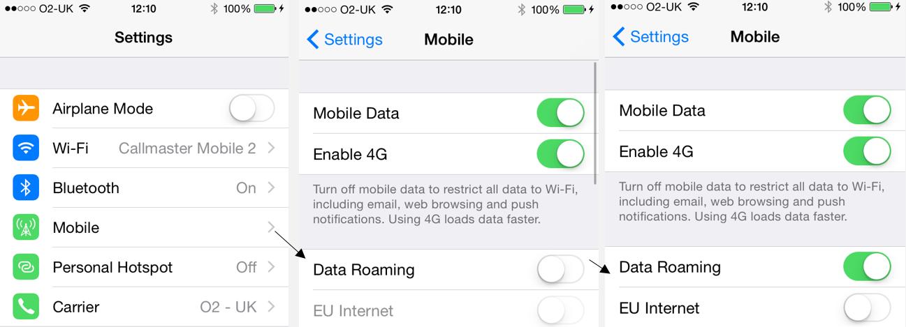iOS 8 Data Roaming Issue