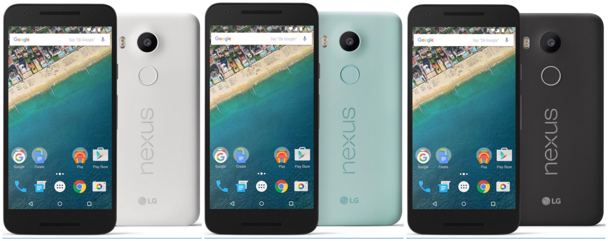 Google Nexus 5X Review Colours