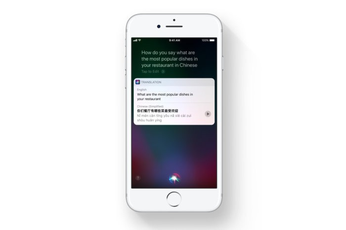 ios 11 siri translation iphone