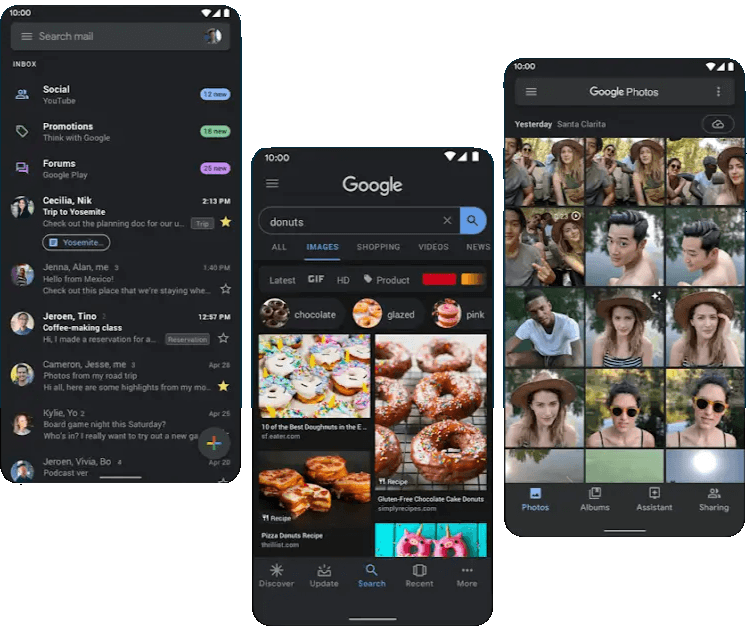 what's new in android 10 dark theme