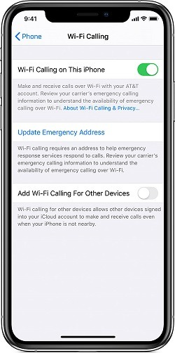 WiFi Calling for iPhone XR O2 Signal Problems